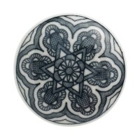 Nordal Möbelgriff 'Stern' schwarz/weiß