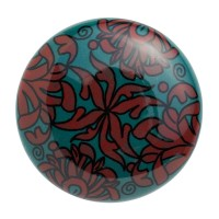 Nordal Möbelgriff 'Keramik' rot/petrol