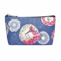 Intrigue Kosmetik-Etui 'Vintage Paris' blau