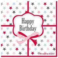 Krasilnikoff Servietten 'Happy Birthday'
