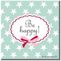 Krasilnikoff Servietten 'Be happy'