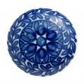 Nordal Möbelgriff 'rund' blau/weiß
