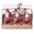 Broste Teelichter 'Weihnachtsmann' rot