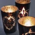 Broste 3er-Set Teelichthalter 'Schwarzes Glas'