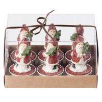 Broste Teelichter 'Weihnachtsmann mit Baum'