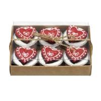 Broste Teelichter 'Lebkuchen-Herz' rot