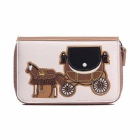 Intrigue Portemonnaie 'Pferdekutsche' braun/creme