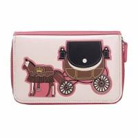 Intrigue Portemonnaie 'Pferdekutsche' rosa/creme