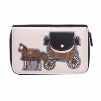 Intrigue Portemonnaie 'Pferdekutsche' schwarz/creme