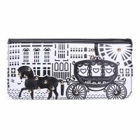 Intrigue Portemonnaie 'Pferdekutsche' schwarz/weiß