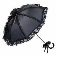 Von Lilienfeld Spitzenschirm 'Malisa' schwarz