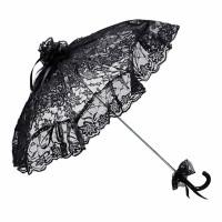 Von Lilienfeld Spitzenschirm 'Josephine' schwarz