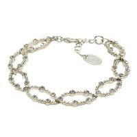 Lisbeth Dahl Armband in silber mit Swarovski-Kristallen