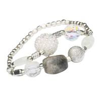 Lisbeth Dahl Armband mit grauem Stein
