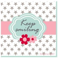 Krasilnikoff Servietten 'Keep smiling'
