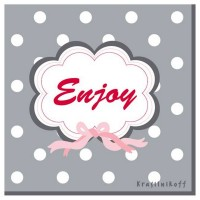 Krasilnikoff Servietten 'Enjoy'