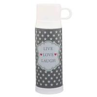 Krasilnikoff Thermoskanne 'Live Love Laugh'