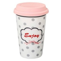 Krasilnikoff Coffee-to-go-Becher 'Enjoy'
