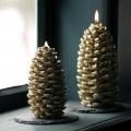 Broste Kerze 'Tannenzapfen' gold
