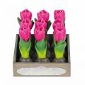 Broste Kerzen 'Tulpe' pink