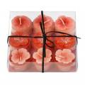 Broste Teelichter 'Blume' rot