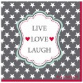 Krasilnikoff Servietten 'Live Love Laugh'